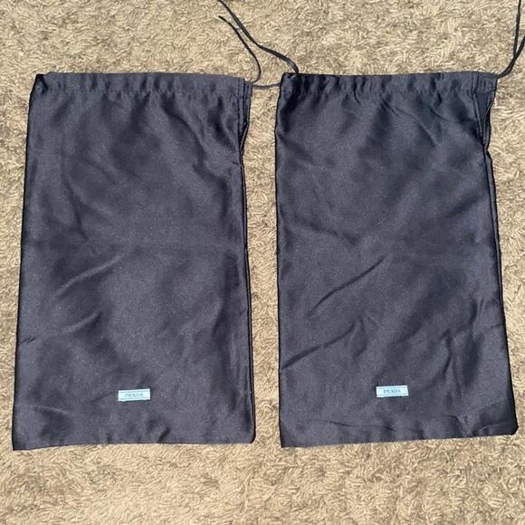 Two Prada Black Shoe Dustbag Dust Bags